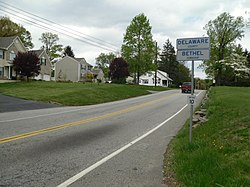 Entering Bethel Township on Pennsylvania Route 261