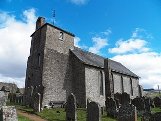 Bewcastle - Image: Bewcastle cross and church