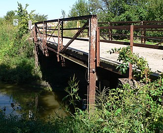 National Register of Historic Places listings in Butler County, Nebraska - Image: Big Blue bridge (Butler County) from SW 1