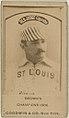 Bill Gleason, St. Louis Browns, baseball card portrait LCCN2008675140.jpg