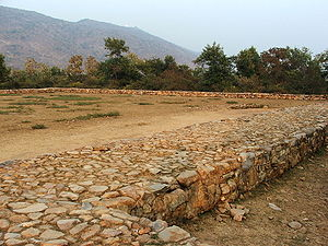 Bimbisara - Bimbisara's jail, where King Bimbisara was imprisoned, in Rajgir