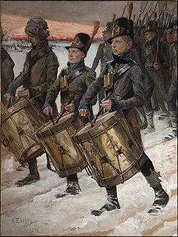 """""""חיילים פינים"""" של אלברט אדלפלט, 1900"""