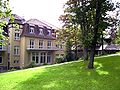 Blick Garten auf Speisesaal 1, Sanatorium Kohnstamm.JPG