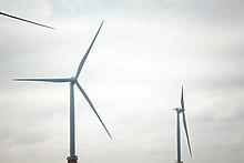 Three turbines at the Block Island Wind Farm