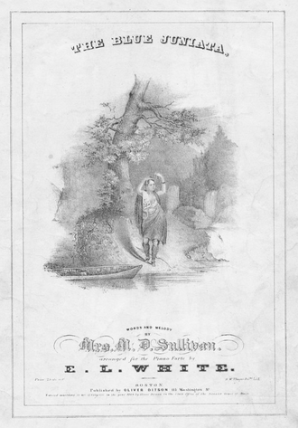 The Blue Juniata - Cover of sheet music, 1844.