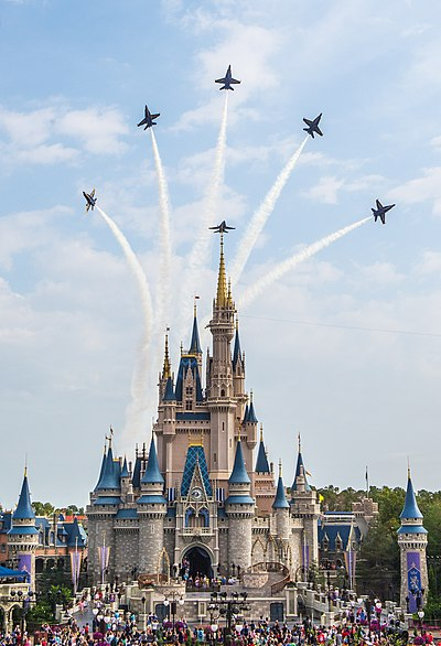 Blue Angels perform the Delta Breakout over Cinderella's Castle.jpg