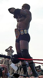 Bobby Lashley during his ECW World Championship reign