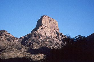 Baboquivari Peak Wilderness - View of the east face of Baboquivari Peak