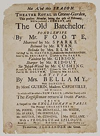 The Old Bachelor cover
