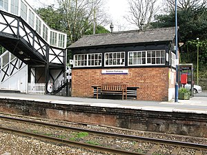 Bodmin Parkway railway station - The old signal box is now a cafe