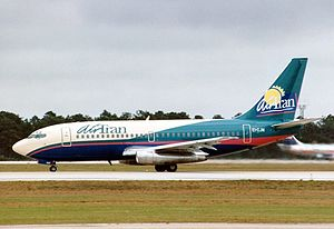 AirTran Airways - A AirTran Boeing 737-200 in the original livery at Orlando International Airport