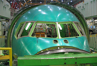 Boeing 767 - The nose assembly of a Boeing 767, also known as fuselage section 41
