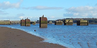 Milton Island - Bollards on the River Clyde