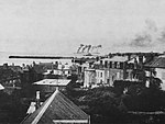 Bombing of Cézembre seen from the roofs of Saint-Malo.jpg