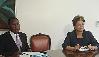 Thomas Boni Yayi - Yayi Boni with the President of Brazil, Dilma Rousseff