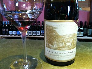 Bonny Doon Vineyard - Bonny Doon's Le Cigare Volant (the Flying Cigar) named after the 1954 law in the Châteauneuf-du-Pape AOC prohibiting flying saucers from traveling over the region's vineyards.