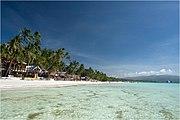 View of white sand beaches of Boracay.