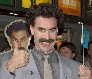 Borat - Sacha Baron Cohen in character as Borat, at the Cologne premiere of the film