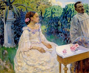 Victor Borisov-Musatov - Self-Portrait with sister, 1898