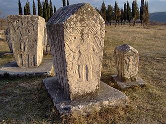 Radimlja - Image: Bosniangraves bosniska gravar februari 2007 stecak stecci 5