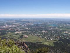 View o South Boulder frae Bear Peak