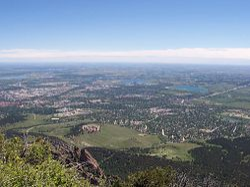 Uitzicht op South Boulder vanaf Bear Peak