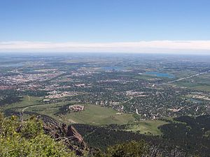 View of Boulder from Bear Peak. University of ...