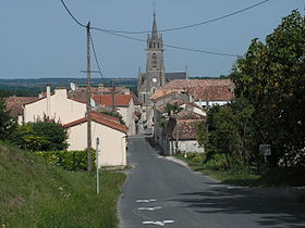 Le village et l'église de Bouniagues.