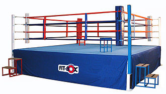 Boxing ring - An AIBA full-sized competition ring