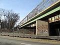 Boylston Street pedestrian bridge at Eliot station, March 2016.JPG