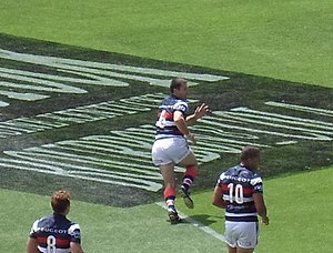 Brad Fittler - Brad Fittler playing in the NRL Nines 2014
