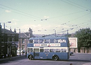 Thackley - Trolley Bus turning at Thackley Corner terminus