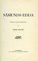 Brate, Sämunds Edda (1913) titelblad sid3.jpg