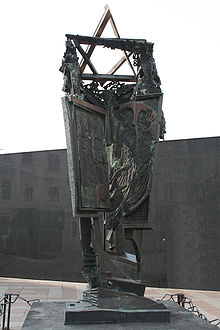 Metal sculpture incorporating the Star of David