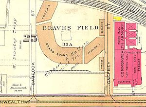 "Green Line ""A"" Branch - 1916 map showing the loop at Braves Field"