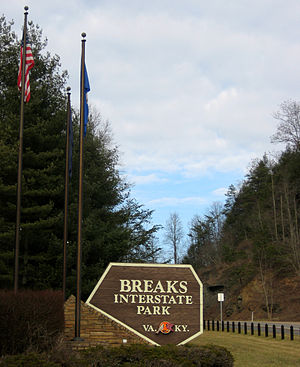Breaks Interstate Park - Image: Breaks Interstate Park sign