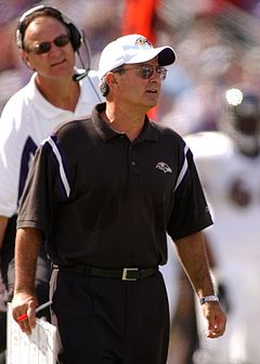 Coach Gary Zauner (front) and Brian Billick with the Baltimore Ravens in  2003. cdf863d1c