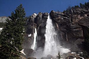 Bridal Veil Falls (Telluride) - Bridal Veil Falls, taken from the base.