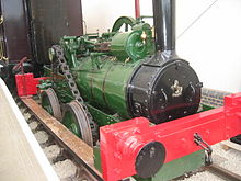 small green steam locomotive