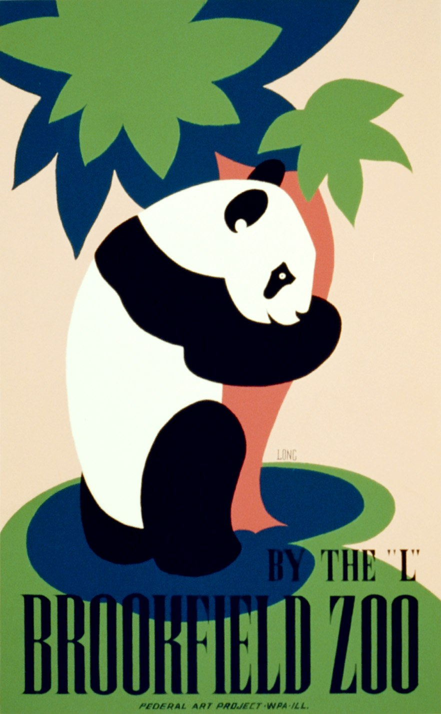 Brookfield Zoo 1938 poster