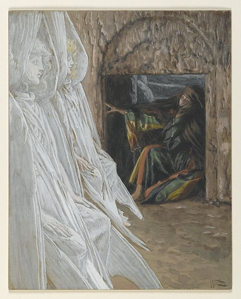 File:Brooklyn Museum - Mary Magdalene Questions the Angels in the Tomb (Madeleine dans le tombeau interroge les anges) - James Tissot.jpg