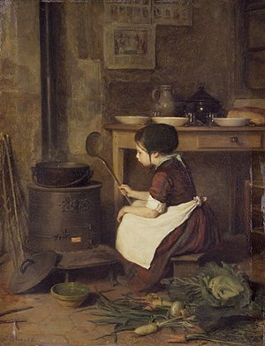 Pierre Édouard Frère - Pierre Édouard Frère, The Little Cook, ca. 1858, oil on panel, 30.8 × 23.5 cm. Brooklyn Museum