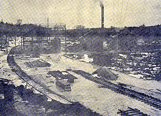 Broughton, Nova Scotia - Mine Yard c.1905