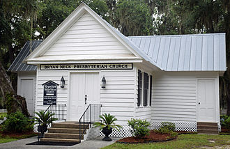 National Register of Historic Places listings in Bryan County, Georgia - Image: Bryan Neck Presbyterian Church, Keller, GA, US