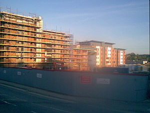 Buckinghamshire New University - Hughenden Park Student Village under construction in 2009
