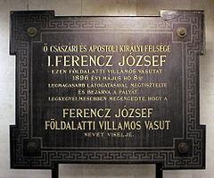 Budapest Foeldalatti Opening Plaque 2.jpg