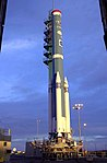 Building Delta 294 for launch of ICESat and CHIPSat (KSC-02PD-2057).jpg