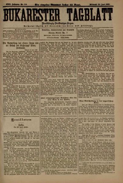 File:Bukarester Tagblatt 1909-06-23, nr. 136.pdf