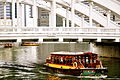 Bumboat passing under Elgin Bridge, Singapore - 20090926.jpg