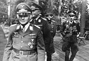 A photo of paratroop commander Kurt Studentfollowed by Hermann-Bernhard Ramcke and Hans Kroh in 1941
